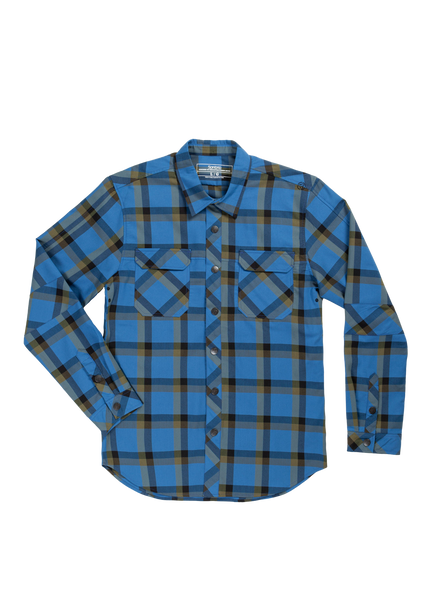 Sombrio Men's Vagabond Riding Shirt, Creek Plaid (B695020M)
