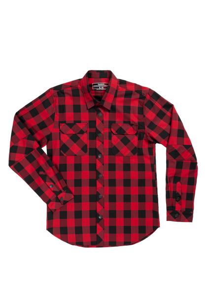 Sombrio Men's Vagabond Riding Shirt, Buffalo Plaid (B695020M)
