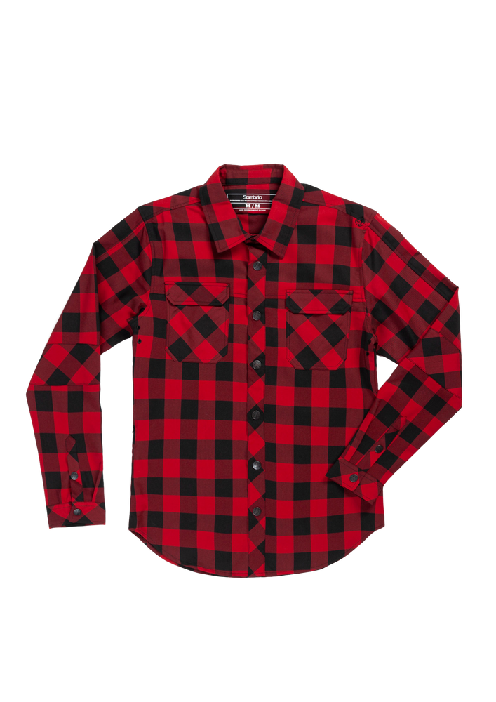 Sombrio Women's Silhouette Riding Shirt, Buffalo Plaid (B695030F)