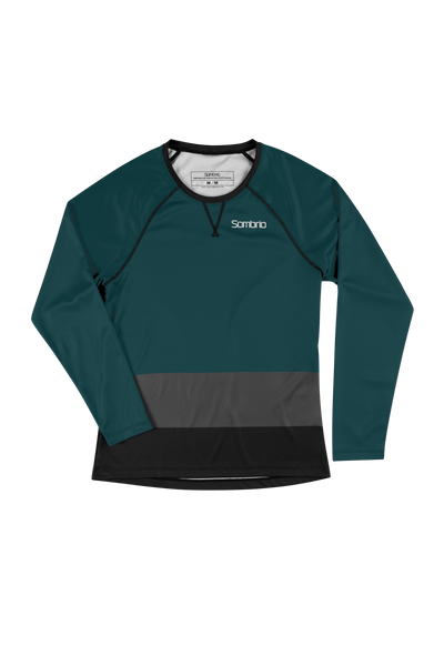 Sombrio Custom Alder L/S Jersey - Colour Block, Deep Jade (CJ31F_LS_CLR)