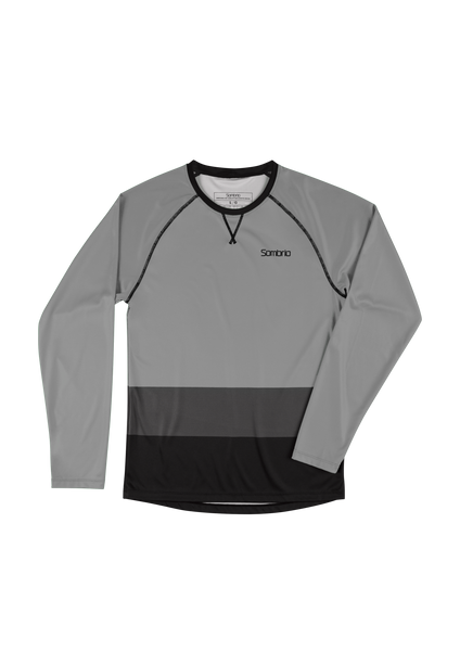 Sombrio Custom Chaos L/S Jersey - Colour Block, Light Grey (CJ30M_LS_CLR)