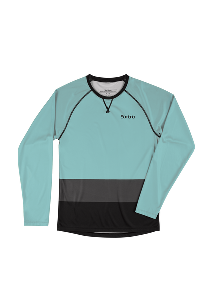 Sombrio Custom Chaos L/S Jersey - Colour Block, Lichen (CJ30M_LS_CLR)