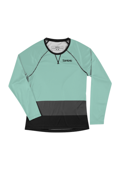 Sombrio Custom Alder L/S Jersey - Colour Block, Lichen (CJ31F_LS_CLR)