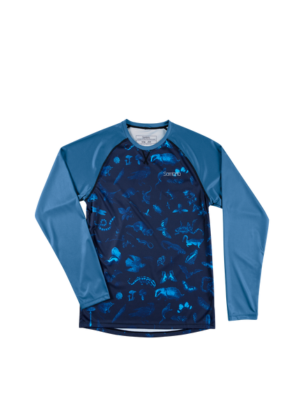 Sombrio Custom Groms Chaos L/S Jersey - Colour Block, Forest Creatures (CJ32J_LS_PRT)
