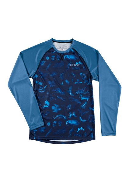 Sombrio Custom Chaos L/S Jersey - Print, Forest Creatures (CJ30M_LS_PRT)