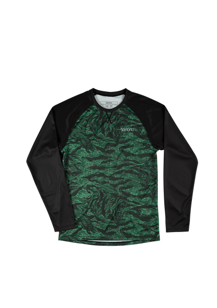 Sombrio Custom Groms Chaos L/S Jersey - Colour Block, Green Grizzly Camo (CJ32J_LS_PRT)