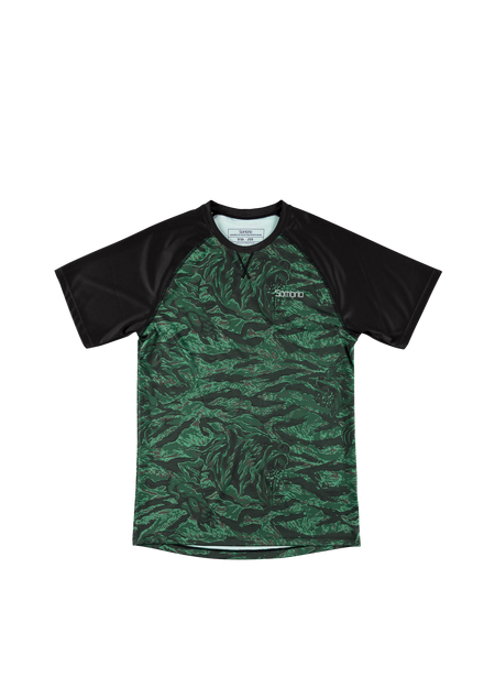 Sombrio Custom Groms Chaos S/S Jersey - Print, Green Grizzly Camo (CJ32J_SS_PRT)