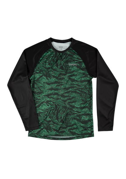 Sombrio Custom Chaos L/S Jersey - Print, Green Grizzly Camo (CJ30M_LS_PRT)
