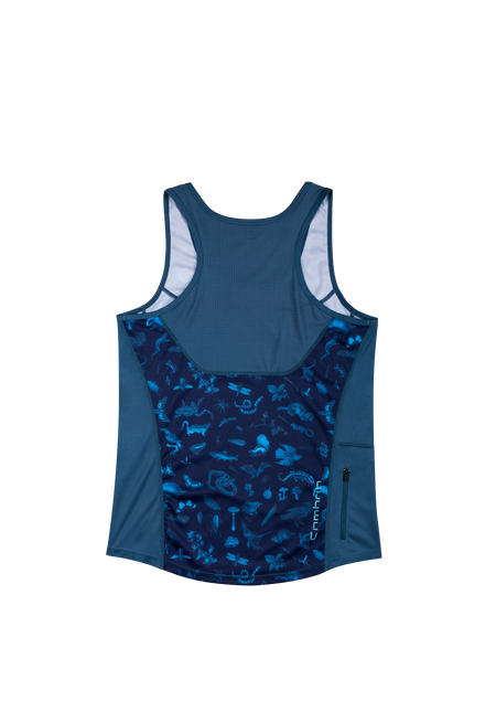 Sombrio Women's Rise N' Climb Tank, Dark Night Forest Creatures Alt (B120010F)