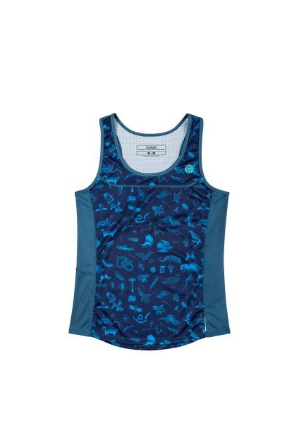 Sombrio Women's Rise N' Climb Tank, Dark Night Forest Creatures (B120010F)