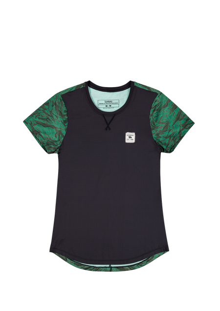 Sombrio Women's Valley Jersey, Green Grizzly Camo (B592040F)