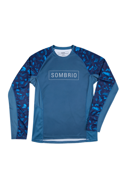 Sombrio Men's Pursuit Jersey, Dark Night Forest Creatures (B690060M)