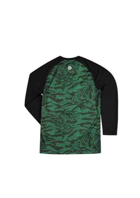 Sombrio Kids Groms Chaos L/S Jersey, Green Grizzly Camo Alt (B860010J)