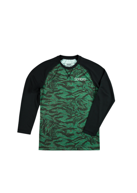 Sombrio Kids Groms Chaos L/S Jersey, Green Grizzly Camo (B860010J)