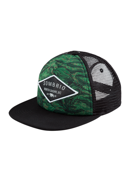 Sombrio Men's Cypress Flatbrim, Green Grizzly Camo (B920100M)