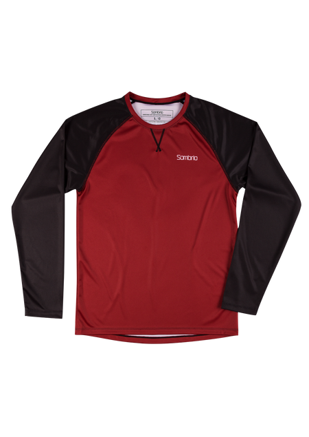 Sombrio Custom Chaos L/S Jersey - Solid, Deep Red (CJ30M_LS_SLD)