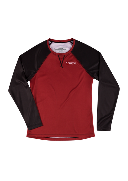 Sombrio Custom Alder L/S Jersey - Solid, Deep Red (CJ31F_LS_SLD)