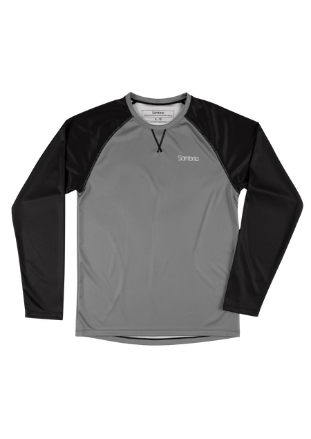 Sombrio Custom Chaos L/S Jersey - Solid, Iron Grey (CJ30M_LS_SLD)
