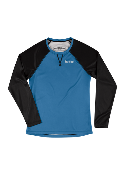 Sombrio Custom Alder L/S Jersey - Solid, Pacific Teal (CJ31F_LS_SLD)