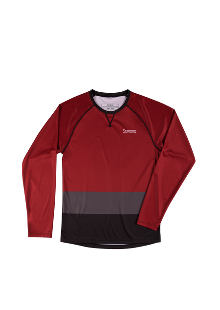 Sombrio Custom Groms Chaos L/S Jersey - Colour Block, Deep Red (CJ32J_LS_CLR)