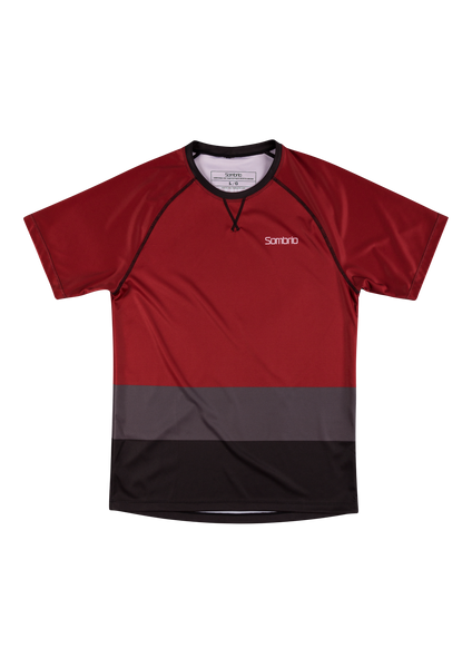 Sombrio Custom Chaos S/S Jersey - Colour Block, Deep Red (CJ30M_SS_CLR)