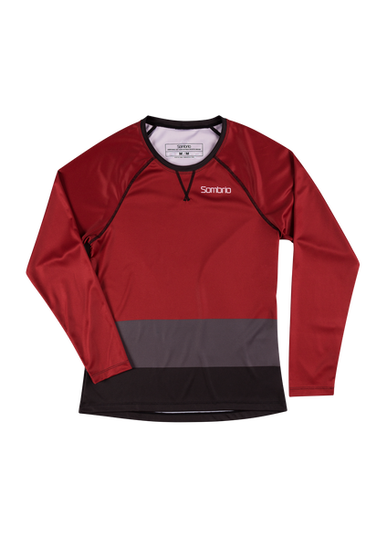 Sombrio Custom Alder L/S Jersey - Colour Block, Deep Red (CJ31F_LS_CLR)