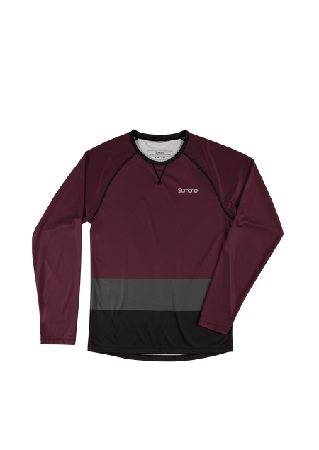Sombrio Custom Groms Chaos L/S Jersey - Colour Block, Fig (CJ32J_LS_CLR)