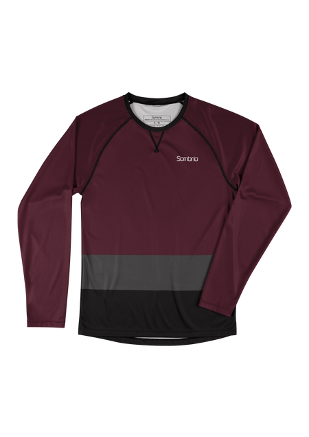 Sombrio Custom Chaos L/S Jersey - Colour Block, Fig (CJ30M_LS_CLR)