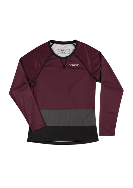 Sombrio Custom Alder L/S Jersey - Colour Block, Fig (CJ31F_LS_CLR)