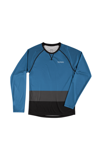 Sombrio Custom Groms Chaos L/S Jersey - Colour Block, Pacific Teal (CJ32J_LS_CLR)
