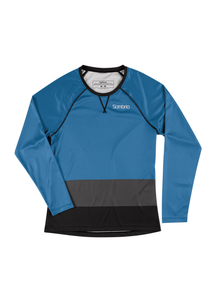 Sombrio Custom Alder L/S Jersey - Colour Block, Pacific Teal (CJ31F_LS_CLR)