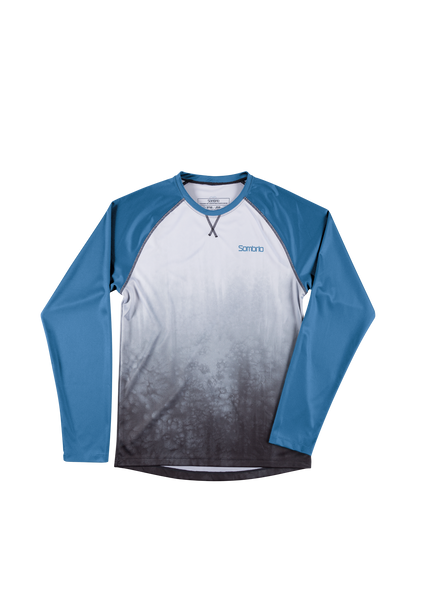 Sombrio Custom Groms Chaos L/S Jersey - Colour Block, Grey Tie Dye (CJ32J_LS_PRT)