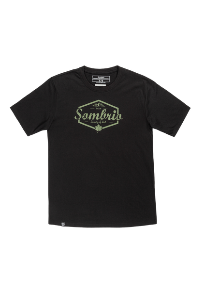 Sombrio Men's Stock Tee, Black Luxury (B500100M)