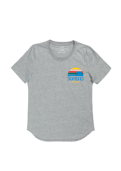 Sombrio Women's Essential Tee, Grey Sunset (B501000F)