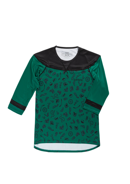 Sombrio Women's Noble Jersey, Evergreen Havoc (B590090F)