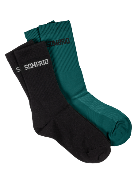Sombrio Women's Stack Socks, Black/Evergreen (B940500F)