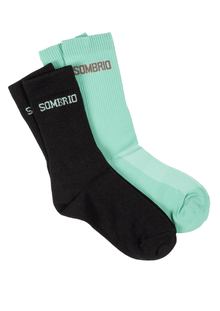 Sombrio Women's Stack Socks, Black/Lichen (B940500F)