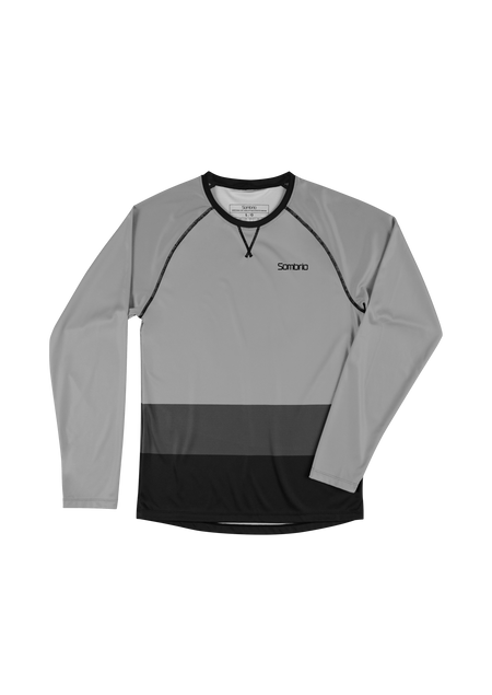 Sombrio Custom Groms Chaos L/S Jersey - Colour Block, Light Grey (CJ32J_LS_CLR)
