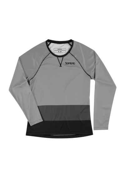 Sombrio Custom Alder L/S Jersey - Colour Block, Light Grey (CJ31F_LS_CLR)