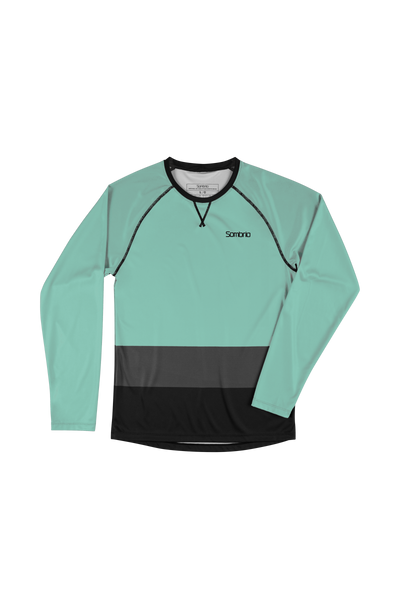 Sombrio Custom Groms Chaos L/S Jersey - Colour Block, Lichen (CJ32J_LS_CLR)