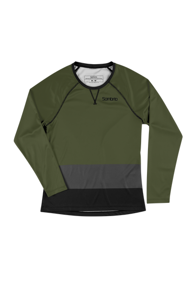 Sombrio Custom Alder L/S Jersey - Colour Block, Moss (CJ31F_LS_CLR)