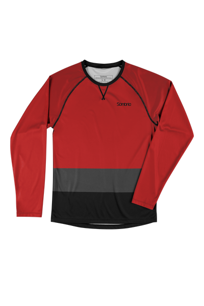 Sombrio Custom Chaos L/S Jersey - Colour Block, Risk (CJ30M_LS_CLR)