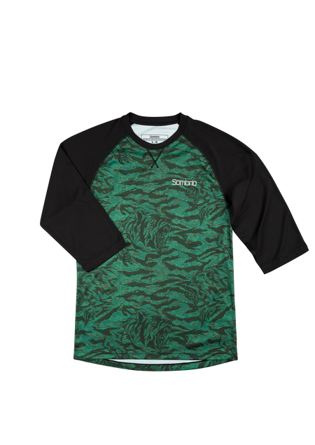 Sombrio Men's Chaos Jersey, Green Grizzly Camo (B590110M)