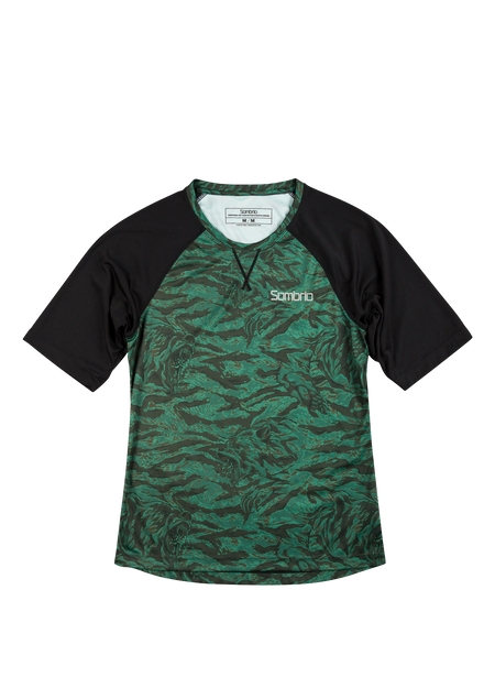 Sombrio Women's Alder  Jersey, Green Grizzly Camo (B592020F)