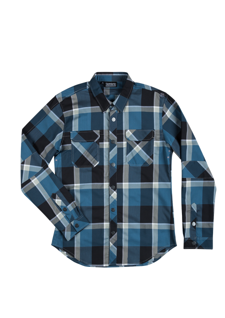 Sombrio Men's Vagabond Riding Shirt, Pacific Plaid (B695020M)