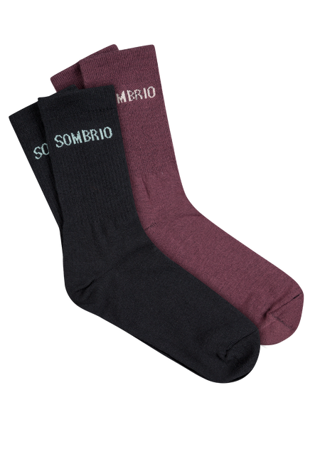 Sombrio Women's Stack Socks, Black/Fig (B940500F)