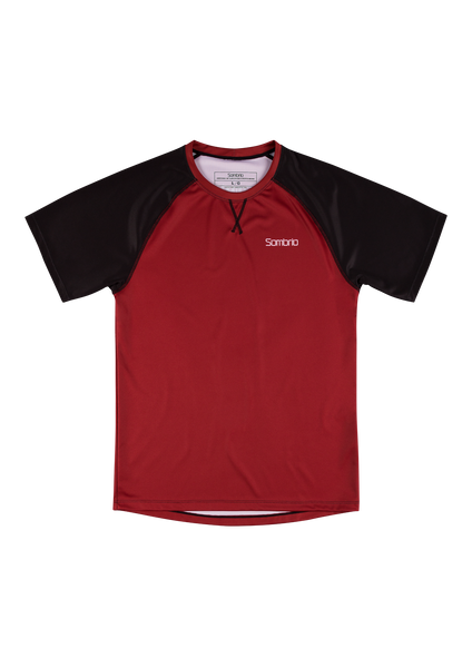 Sombrio Custom Chaos S/S Jersey - Solid, Deep Red (CJ30M_SS_SLD)
