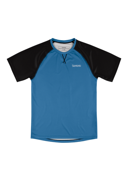 Sombrio Custom Chaos S/S Jersey - Solid, Pacific Teal (CJ30M_SS_SLD)
