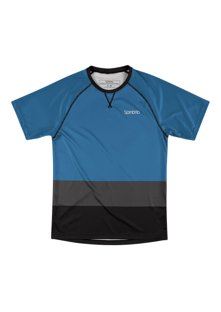Sombrio Custom Chaos S/S Jersey - Colour Block, Pacific Teal (CJ30M_SS_CLR)