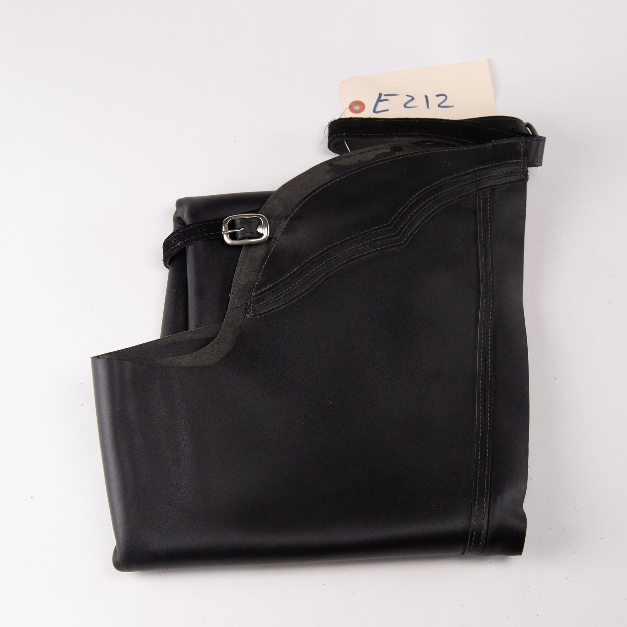 English Schooling Chaps - Black Top Grain Leather - Double Stripe